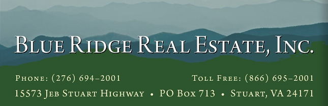 Blue Ridge Real Estate - Patrick, Floyd & Carroll Counties Virginia