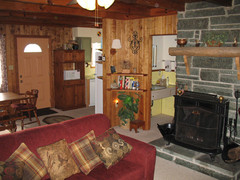 Living Room w/ Wood Stove