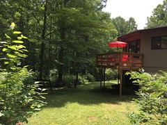 Deck and Picnic area in Yard