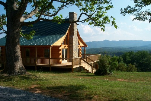 Log Home with VIEW on 2.11 Acres! - Ridge Road - Woolwine, VA
